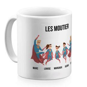 mug personnalise super heros