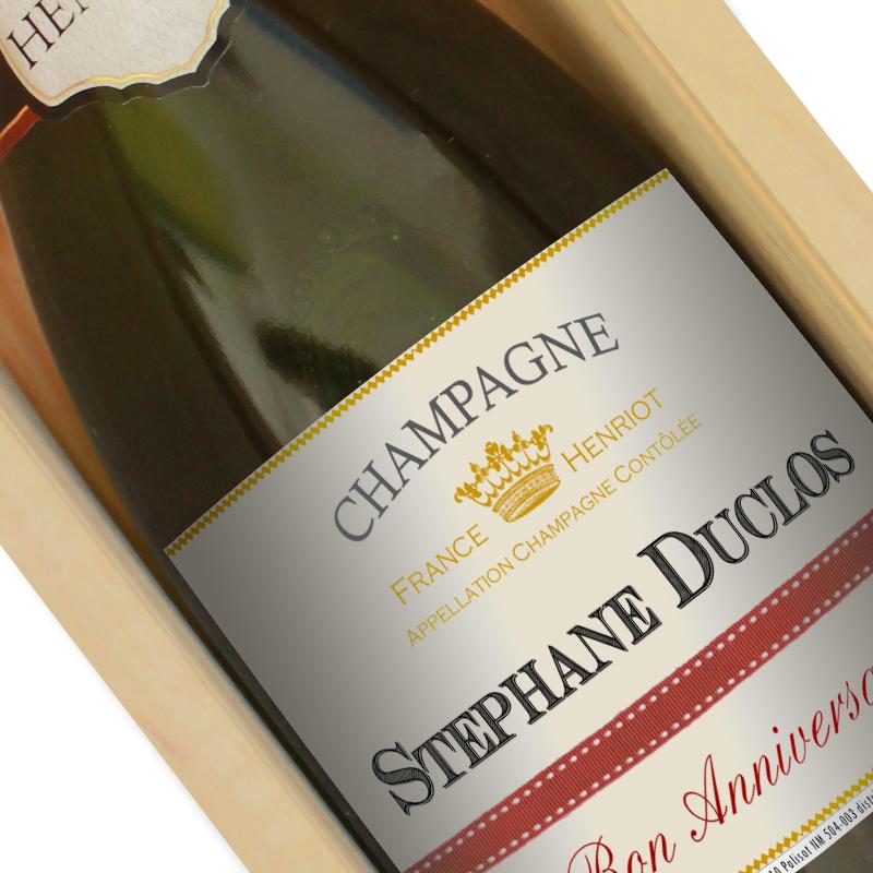 bouteille champagne avec etiquette personnalisee zoom
