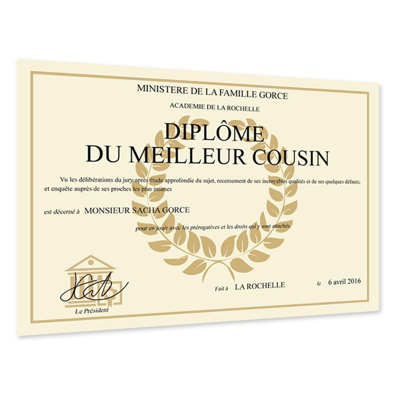 Faux Diplome Personnalise