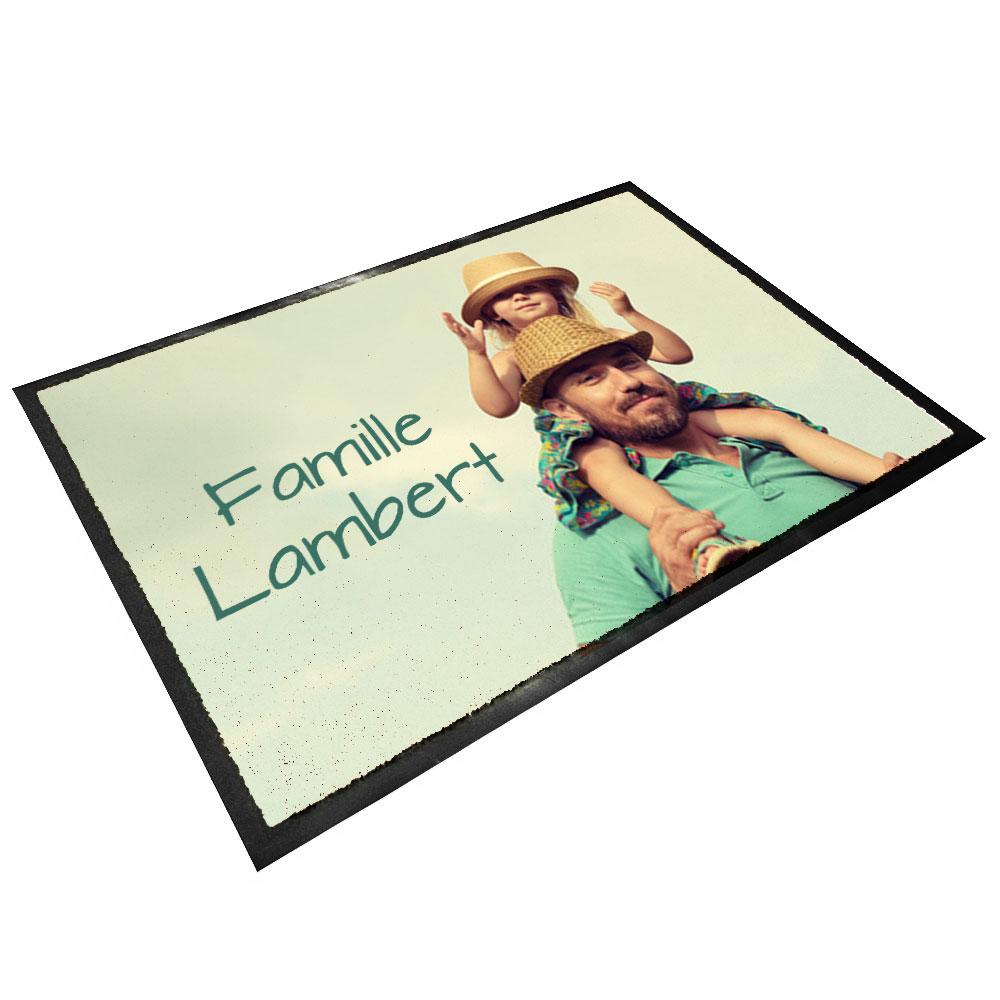 tapis d entree en caoutchouc personnalise photo