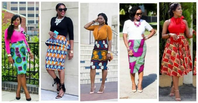 ankara combination short skirtss amillionstyles