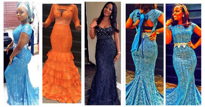 latest aso ebi styles lace inspired amillionstyles africa