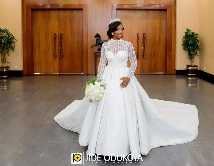 Latest Nigerian English Gowns: Wedding Dresses Made By Nigerian Designers