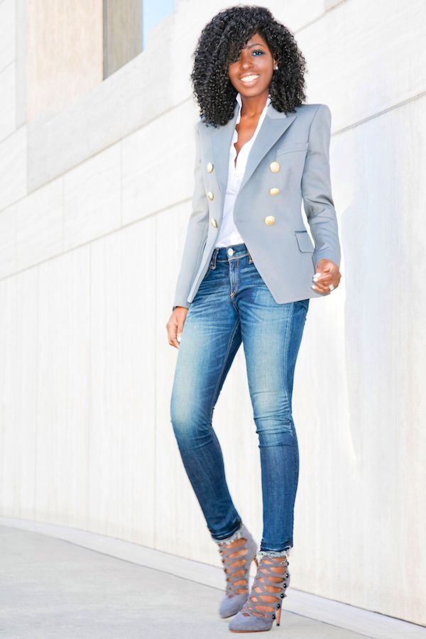 Denim and Blazers The Casual and Simple Look Inspiration | A Million Styles Africa