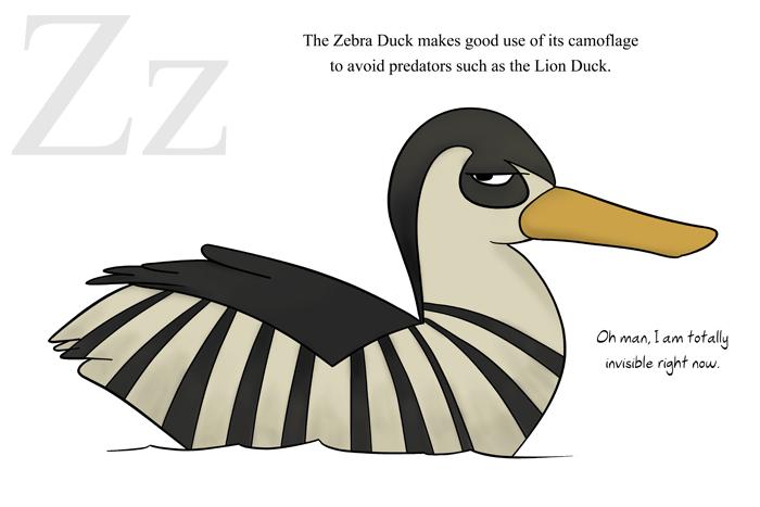 Z is for Zebra Duck