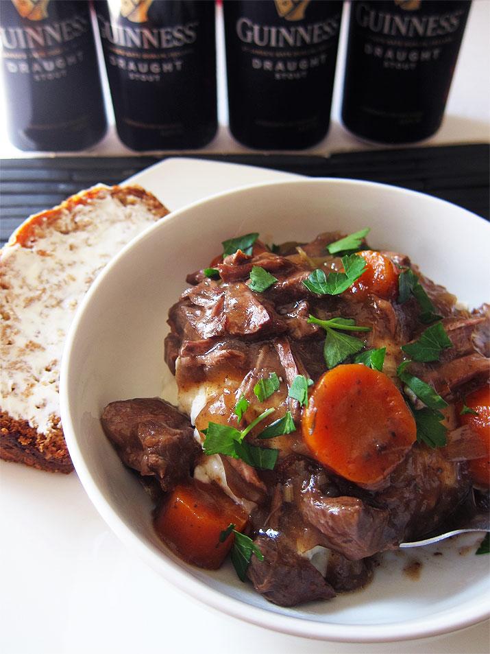 Crockpot Irish Beef Stew with Beer Bread