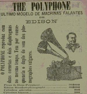 Anúncio ao fonógrafo de Edison