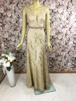 Elegantes Abendkleid Gold fliessend