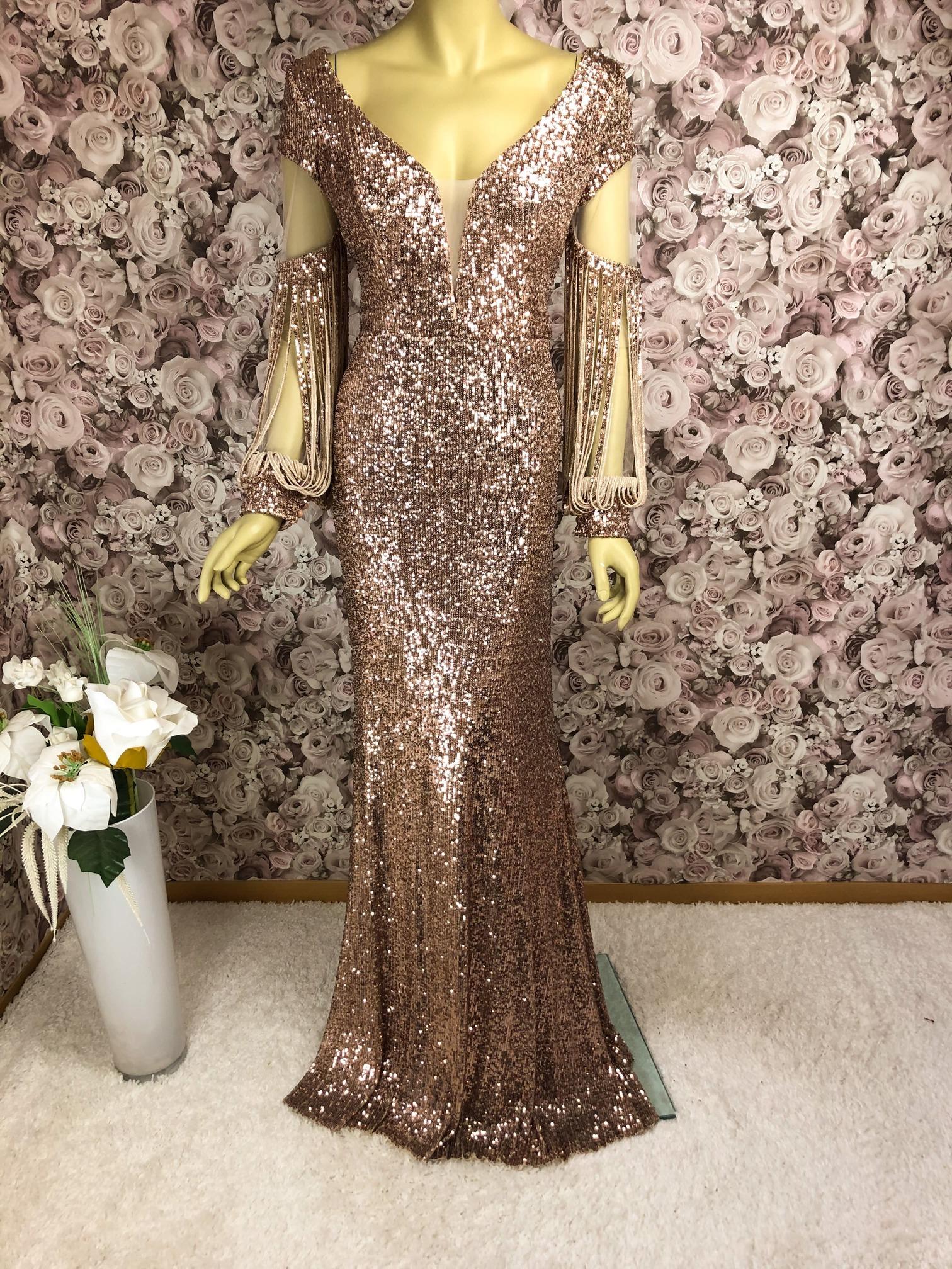 Elegantes Pailletten-Abendkleid Rose ✔ Highlight für Silvester15✔