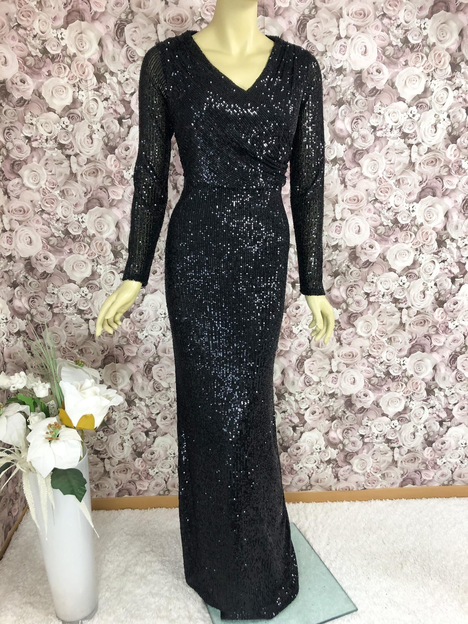 Extravagantes Pailletten-Kleid Schwarz