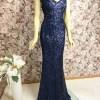 Elegantes Abendkleid lang blau