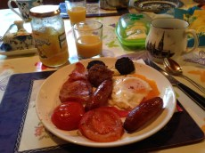 Moment important : le « typical Irish breakfast »