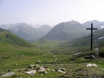 La croix au sommet du col du Septimer