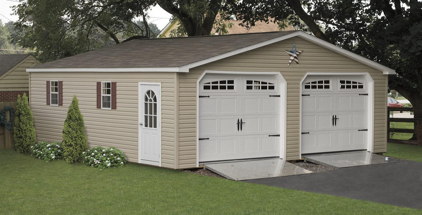 Prefabricated 2 Car Garages Amp Amish Made Garage Amish