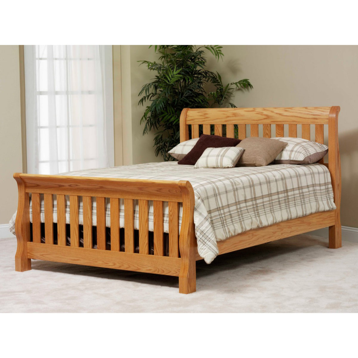 Traditional Series Slat Sleigh Bed Amish Crafted Furniture