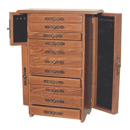 Eleven Drawer Large Jewelry Chest Amish Crafted Furniture