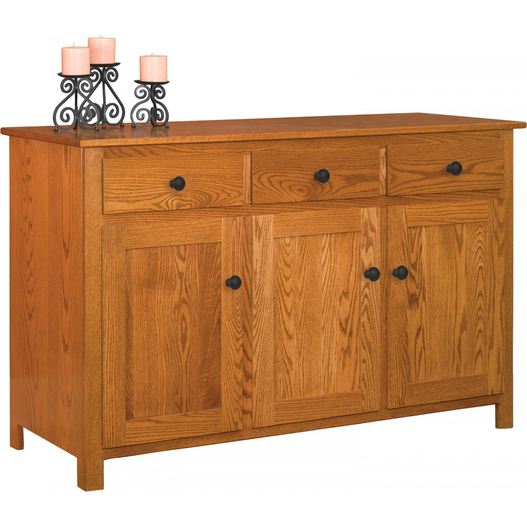 Old South Three Door Buffet Amish Crafted Furniture