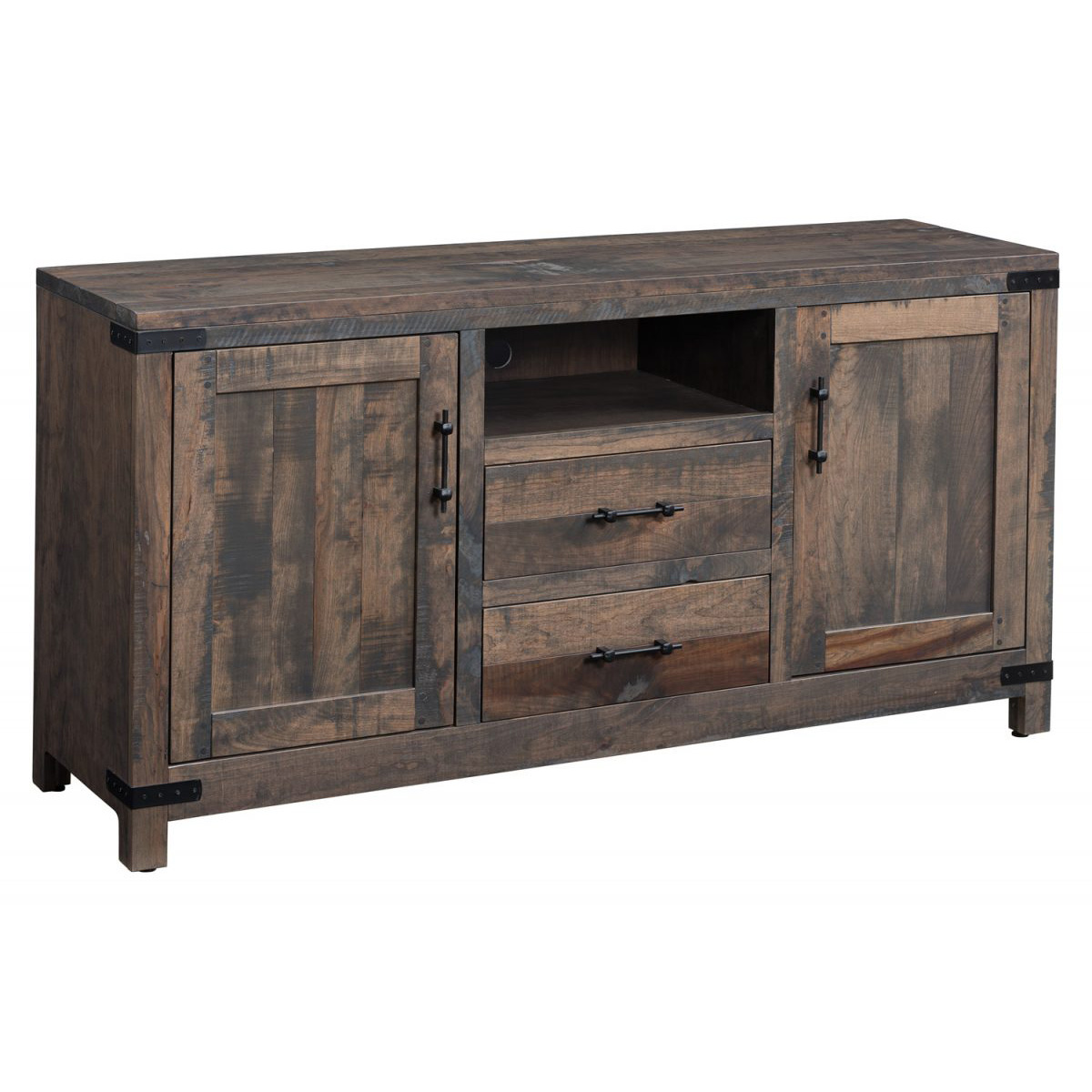 Rustic Cascade TV Stand Amish Crafted Furniture