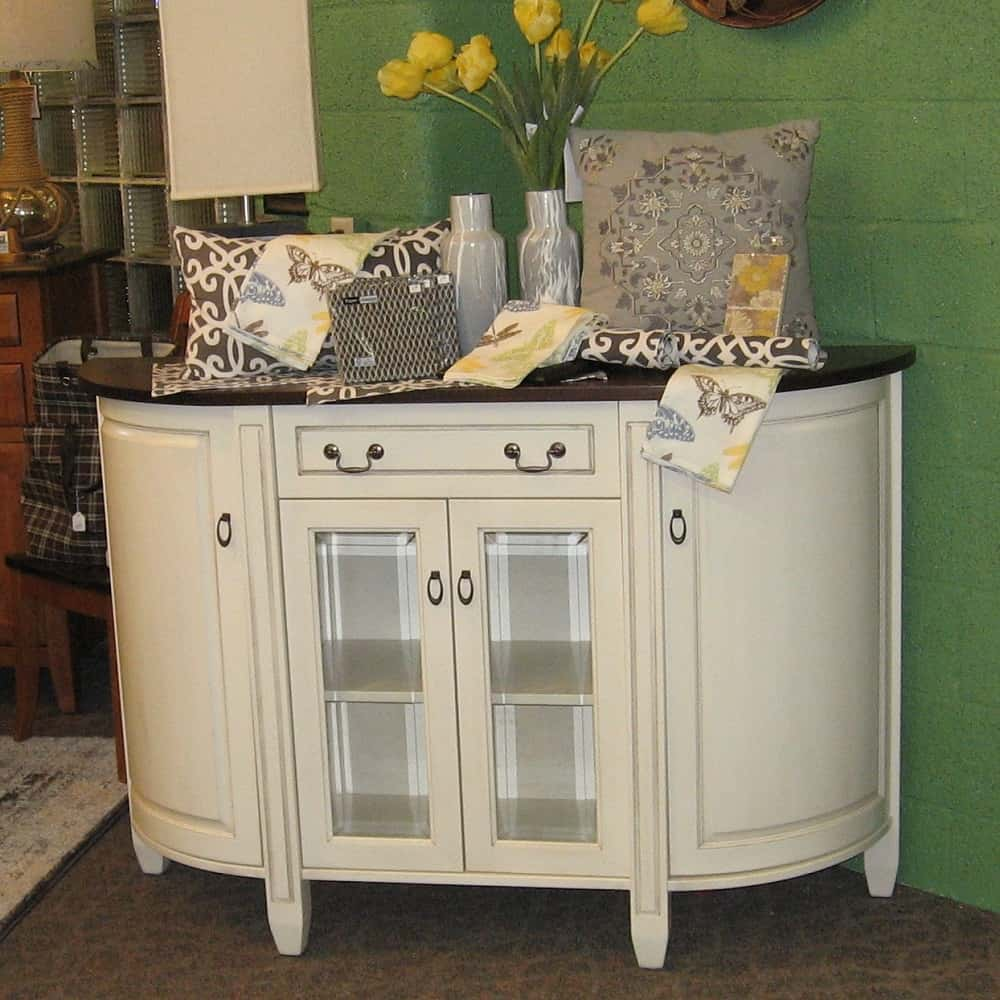 Adrian 4 Door 1 Drawer Buffet With A Two Tone Finish