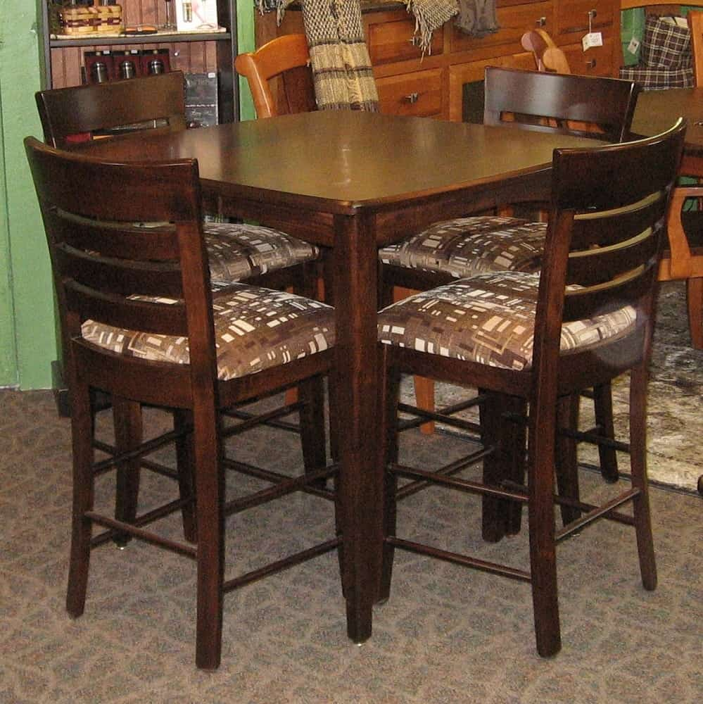 36 Square Vienna Pub Table And 4 Belfast Pub Chairs