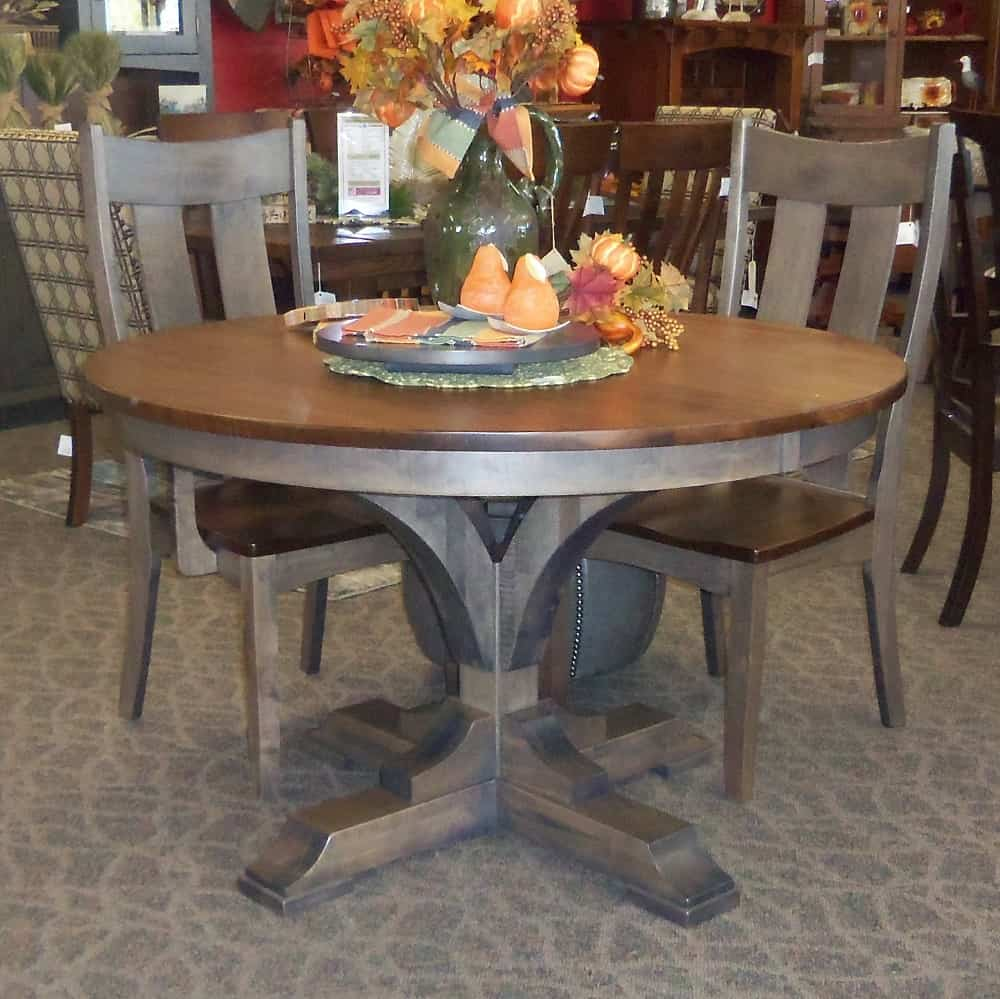 Francis Dining Table With A Two Tone Finish Table Only