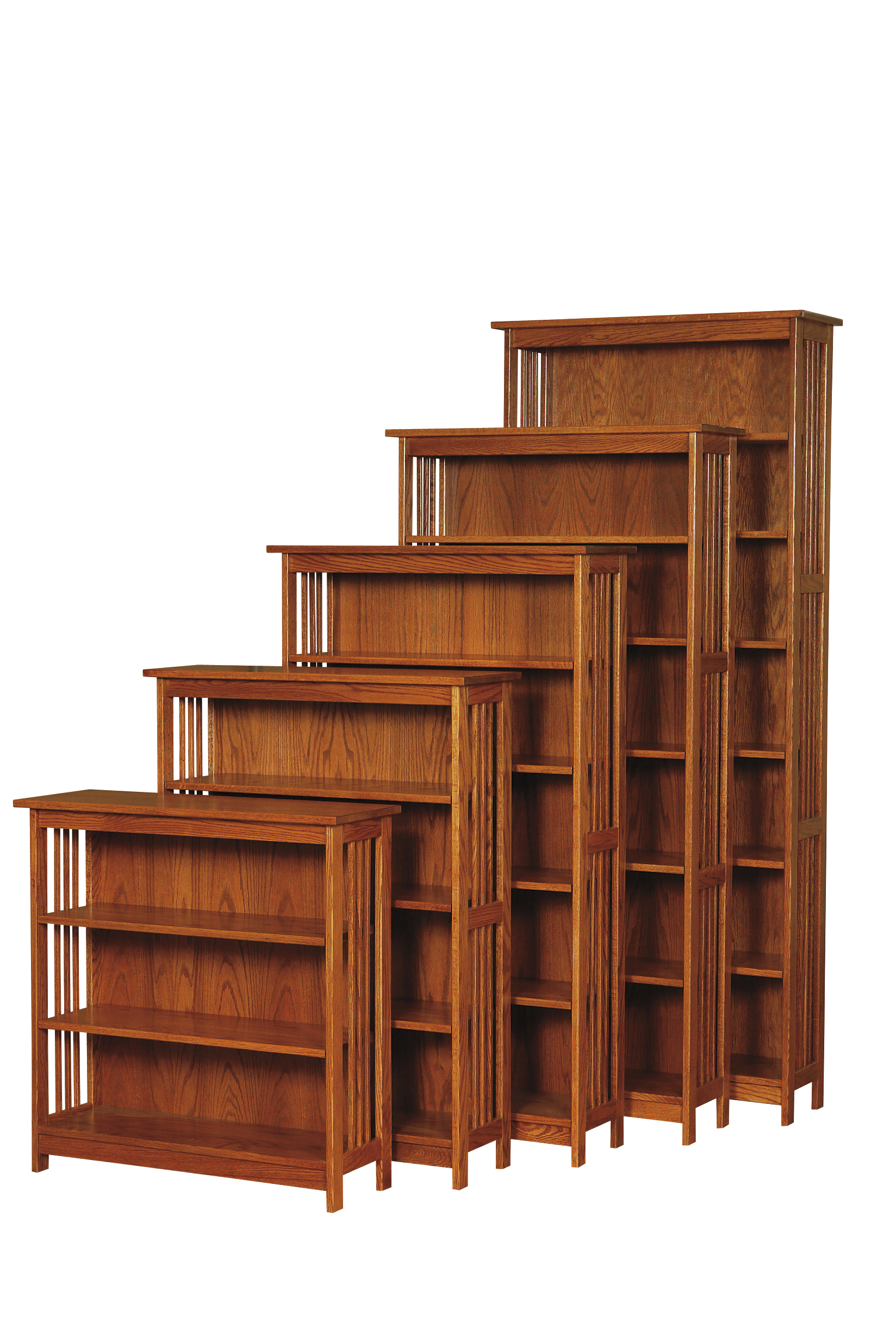 30W Country Mission Bookcase Amish Furniture