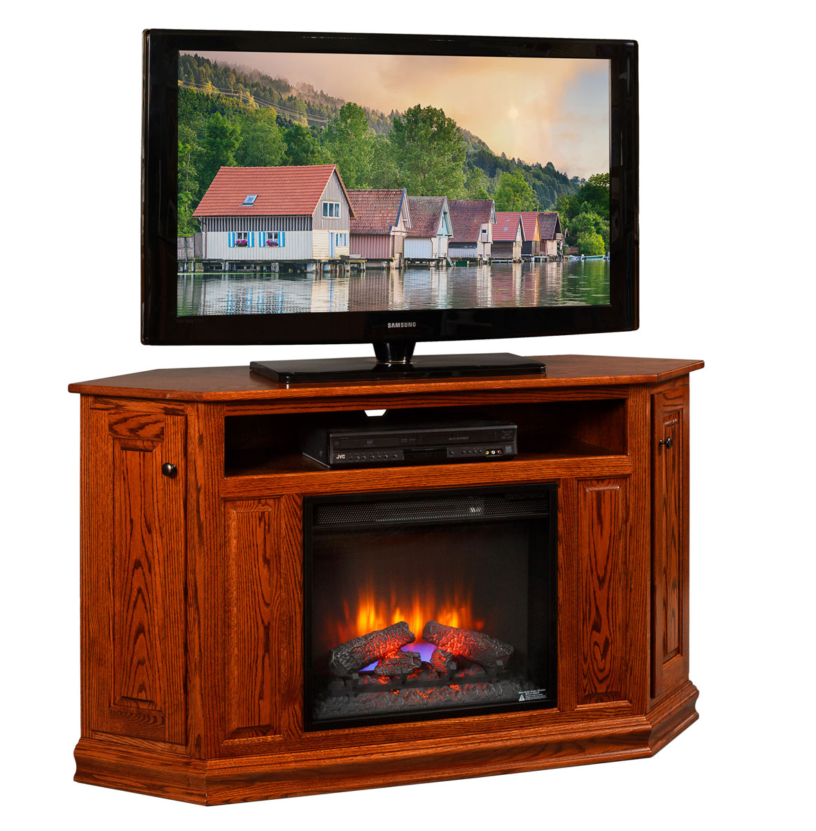 title | Corner Tv Stand With Fireplace