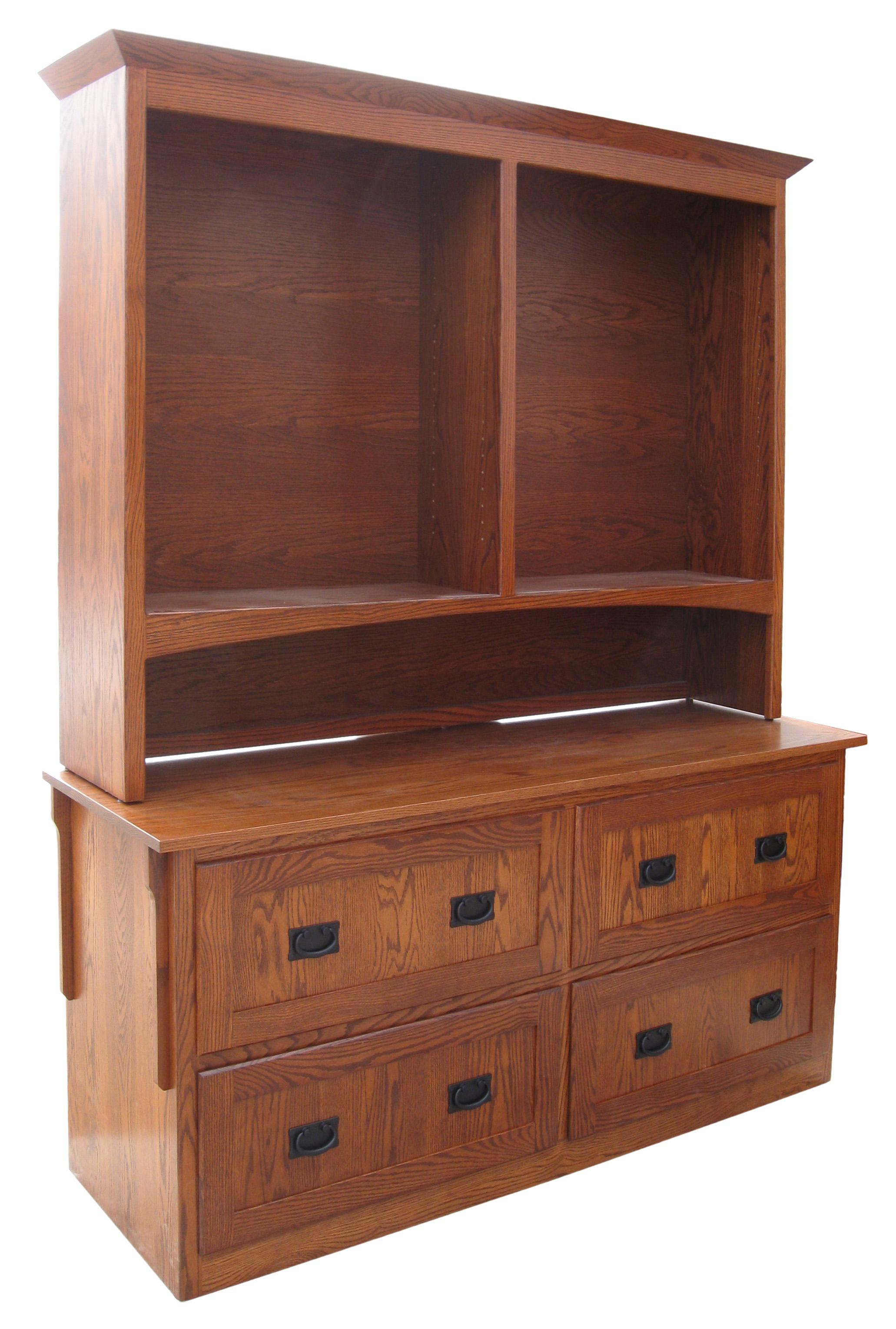 White Dresser Brown Top