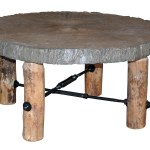 Up To 33 Off Blue Ridge Rustic Pine Coffee Table With Concrete Top Amish Outlet Store