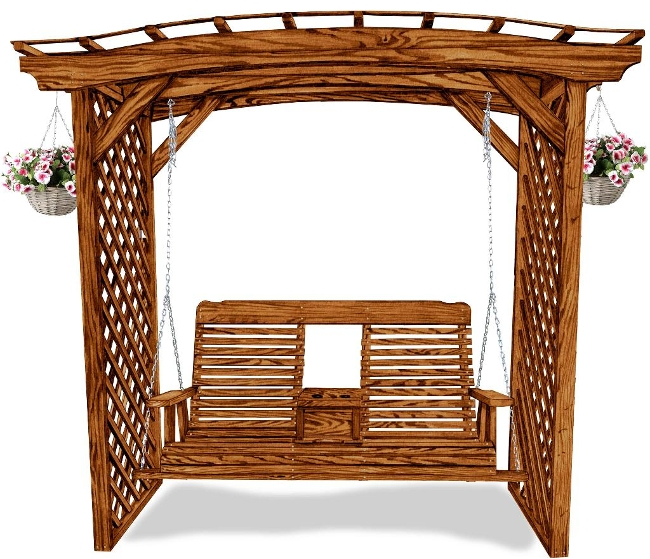 Arbor For 4 And 5 Swing Amish Swings Amp Things