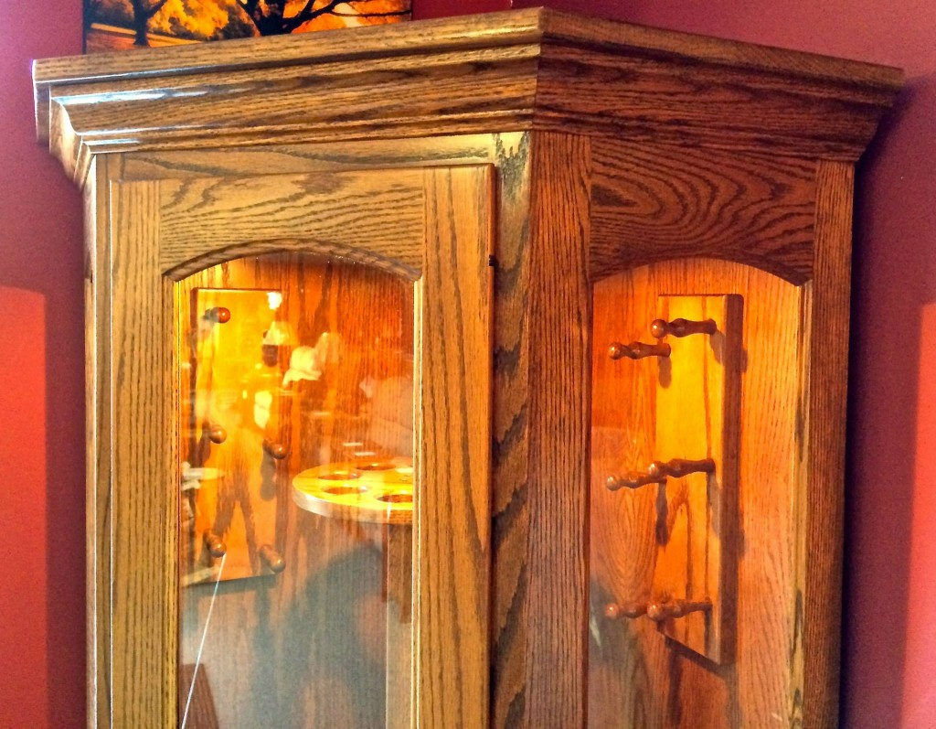 8 Gun Carousel Corner Gun Cabinet Amish Traditions Wv
