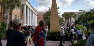 Confederate Memorial protest