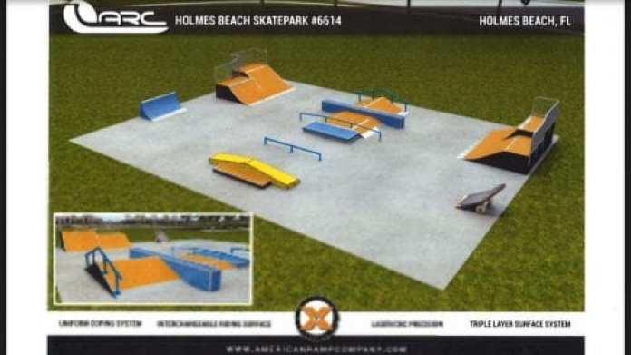 Holmes Beach Skate Park plans