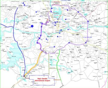 Hyderabad Shamshabad Route