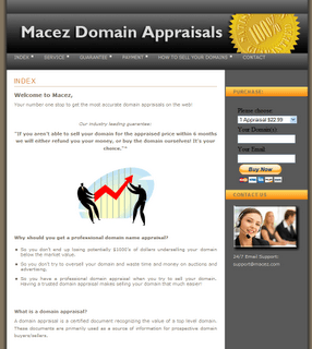 Macez Domain Appraisal Scam