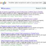 Google Copied Content Report
