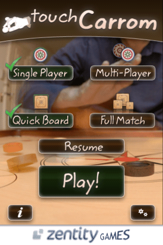 Touch Carrom iPhone Game