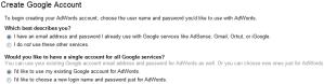 Adwords Create Google Account
