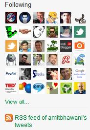 Twitter Following RSS Feed