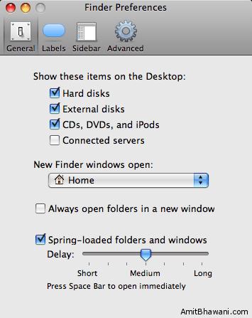 Finder Preferences General Settings