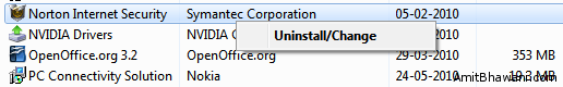 Uninstall Norton Software