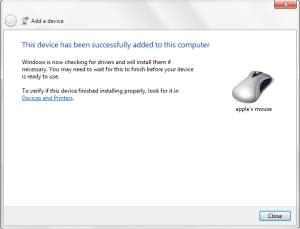 Magic Mouse Windows Installed
