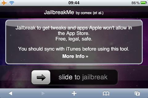 Slide to Jailbreak iPhone