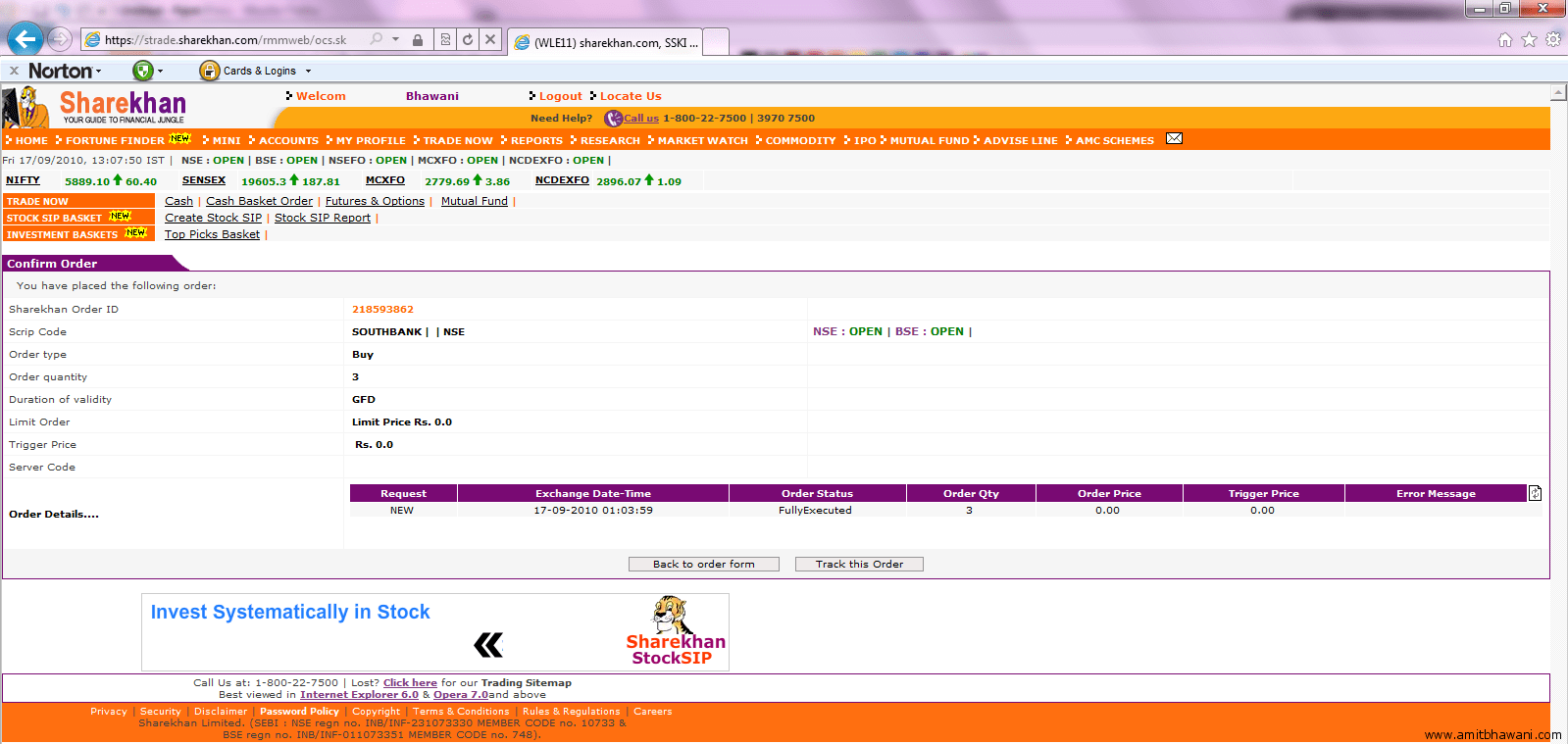 Thats It Thispletes The Tutorial On How You Can Purchase Shares From The  Sharekhan Website Using