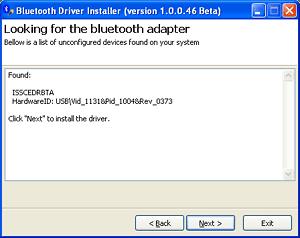 bluetooth installer screenshot