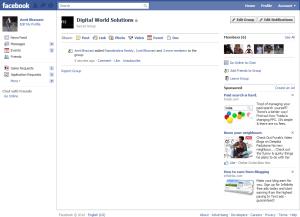 Facebook Group Homepage