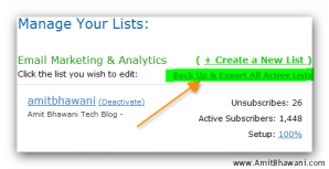 Export & Backup Aweber email newsletter list to your PC
