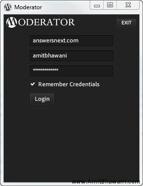 Moderator Desktop Client