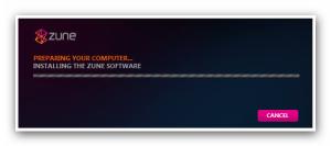 Installing Zune Software