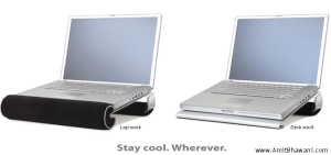 iLap Laptop Cooling Stand for Lap Work & Desk Work